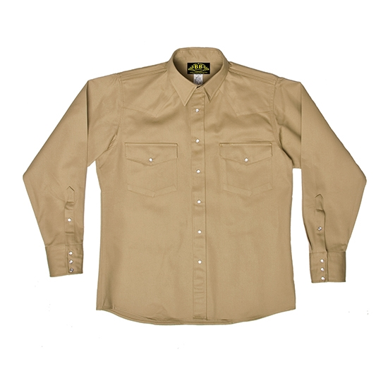 BB KHAKI WELDING SHIRT * USA MADE *